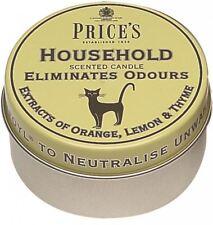 PRICES HOUSEHOLD LEMON ORANGE THYME CANDLE IN TIN ELIMINATES HOUSEHOLD ODOURS