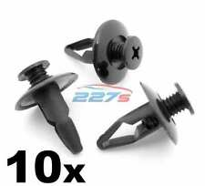 10x 8mm Plastic Wheel Arch Lining, Wing Liner & Splashguard Clips for Nissan