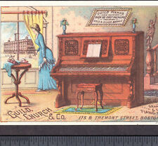Guild, Church & Co Piano Factory View 1880's Victorian Advertising Trade Card