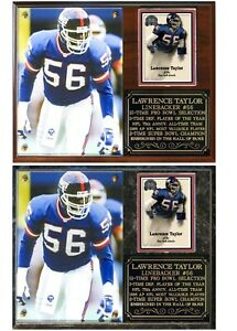 Lawrence Taylor #56 New York Giants Legend Photo Card Plaque