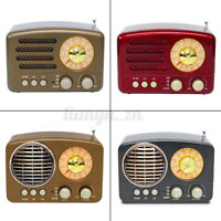 Portable Vintage Retro Radio AM FM SW bluetooth Speaker TF Card Slot USB