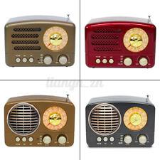 Portable Vintage Retro Radio AM FM SW bluetooth Speaker TF Card Slot USB
