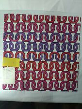 New listing Schumacher Fabric print sample, Loop De Loop Print, cerise. Pattern: 174702.