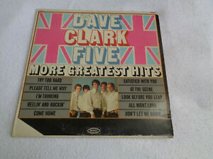 "The Dave Clark Five - More Greatest Hits - Epic 12"" Vinyl LP - 1966"