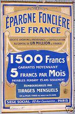 LOT DE  2 AFFICHES ANCIENNES POUR L'EPARGNE FONCIERE DE FRANCE CIRCA 1895-1900