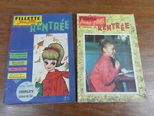 REVUE FILLETTE Jeune Fille SPECIAL RENTREE POUR ANNEES 1961 ET 1962