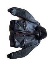 Schott vintage style Steerhide brown leather flight bomber jacket 44 USA Large