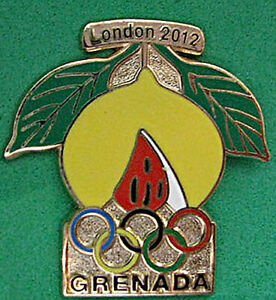 LONDON 30th Summer OLYMPIC Games  NOC Team GRENADA scarce dated official pin