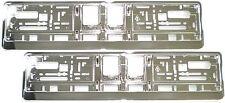 2 Stück Kennzeichenhalter CHROM Silber Hochglanz Nummernschildhalter Satz NEU