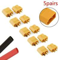 5 Pairs 10Pcs XT60 Male + Female Bullet Connectors Plugs Set for RC Lipo Battery