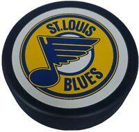 HOLE! ST. LOUIS BLUES VINTAGE NHL OFFICIAL GENERAL TIRE SLUG HOCKEY PUCK 🇨🇦