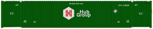 Atlas HO Scale CIMC 53' Cargo Container 3-Pack Hub Group/UPHU Set #4 (Green/UP)