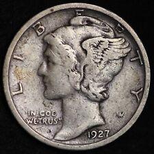 Circulated Lot of 8 Mercury Silver Dimes 1930-1939-P Philadelphia Mint