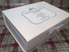Extra Large Personalised Memory Keepsake Box New Baby Boy Christening Gift