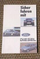 Jahr 1986 Sicher fahren mit Ford DIESEL