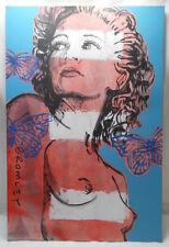 David Bromley Original Painting HILARY BUTTERFLIES 90x60cm with COA #933