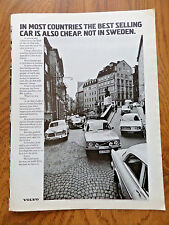 1972 Volvo Ad In Most Countries The Best is Also Cheap Not in Sweden