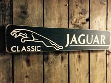 Jaguar Sign Classic Car Plaque Vintage Style Gift Wooden Jag Garage