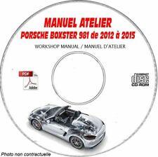 BOXSTER 986 96-03 - Manuel Atelier CDROM PORSCHE Anglais Expédition - 3 euros,