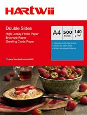 A4 140Gsm Double Sided Photo Paper High Glossy Inkjet Paper  500 Sheets Hartwii