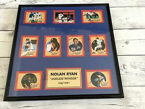 RARE Nolan Ryan Signed Autographed Card Plaqued Scoreboard COA Rangers Astros a