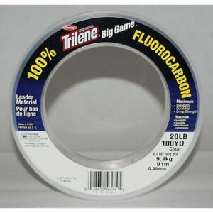 Berkley Trilene Big Game 100% Fluorocarbon Leader Fishing Line Extra Tough 10 lb