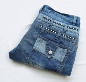 Kosmo Lupo Designer Jeans men size W38 L32 L33 XXL 2XL blue REGULAR Zip Fly