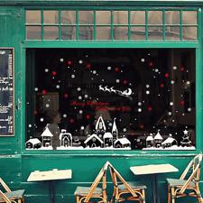 Sticker Autocollant Mural Flocon Neige Maison Déco Boutique Fenêtre Noël 60*90cm