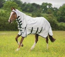 Shires Highlander Plus Sweet-itch Combo Unisex Horse Rug Fly - White All Sizes 6ft3