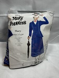 Mary Poppins Adult X-Large 14-16 Costume Halloween disney (missing hat)