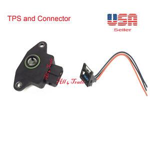 Throttle Position Sernsor(TPS) &Connector Fit:Hyundai Fit:Kia Porsche Saab Volvo