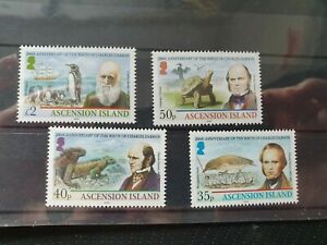 Ascension 2009 Birth Bicent of Charles Darwin set of 4, MNH