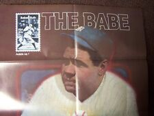 New listing Babe Ruth 20 Cent Postage Stamp Lobby Poster 1983 New York Yankees Post Office
