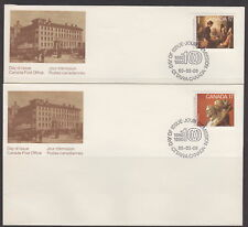 CANADA #849-850 17¢ ACADEMY OF ARTS FIRST DAY COVERS