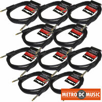 10-PACK 6' FOOT 1/4 MONO GUITAR INSTRUMENT CABLE CORD STRUKTURE ABS LIFETIME