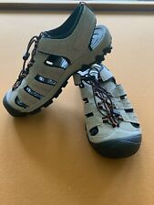 SwissTech Mens Size 8 Oberland Bump Toe Tan & Black Leather Sandals NWOT
