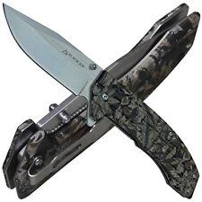 Black Ice Einhandmesser Ace Green Taschenmesser mit Liner Lock und Gürtelclip