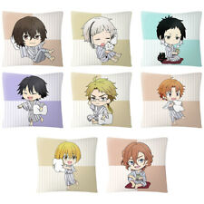Bungo Stray Dogs Osamu Dazai Cute Square Cushions Hold Pillow Holiday Gift 40cm