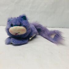 "Vintage Kenner Furrever Friends ""Posietail"" Purple Kitten Plush Stuffed Animal"