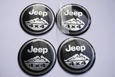 4Pcs 56.5mm Auto Car Sticker Wheel Center Hub Cap Logo Aluminium fit for Jeep