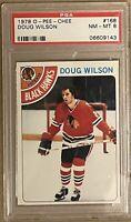 1978 1979 OPC Doug Wilson PSA 8 RC ROOKIE #143 Blackhawks
