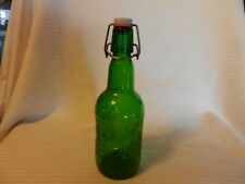 Vintage 16 Oz. One Pint Grolsch Brewery Green Swing Top Lid Glass Bottle Holland