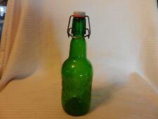 Vintage 16 Oz. One Pint Grolsch Brewery Green Swing Top Lid Glass Bottle Holland