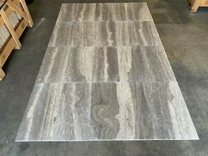 Silver Travertine Tiles, Silver Vein Floor Wall Tile, Onyx, Marble, 305x610mm