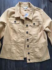 Christopher & Banks Womens Jacket Mustard Yellow Fall Coat Size Large