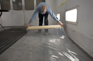 """Paint Booth Self Adhering CLEAR Floor Film 30"""" x 120'  RB 419 - FREE SHIPPING"""