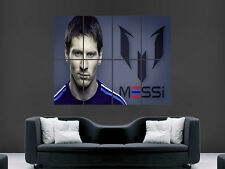 Lionel messi football barca art huge giant poster print