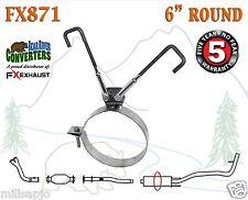 Fx871 Universal 6� Round Stainless Steel Muffler Strap Adjustable Bracket Hanger