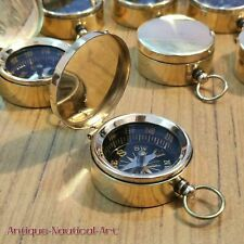 Pocket Compass Nautical Brass Lot Of 50 Pieces Marine Collectible Compass