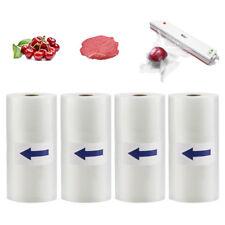 4 Rolls 8X50 Food Saver Vacuum Sealer Bags 4 mil FoodSaver Embossed Storage Bags